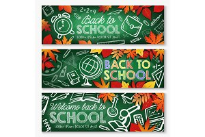Back to school chalkboard banner
