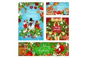Merry Christmas greeting card for