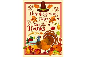 Vector Happy Thanksgiving Day