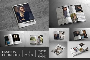 Fashion Lookbook Brochure 12 Pages