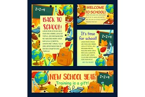 Back to school poster for greeting