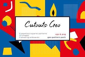 Cutouts Geometric pattern collection