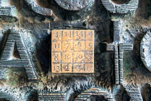 The magic square at the door