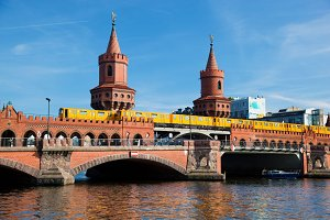 The Oberbaum Bridge, Berlin, Germany
