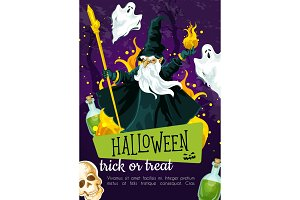 Halloween holiday greeting poster