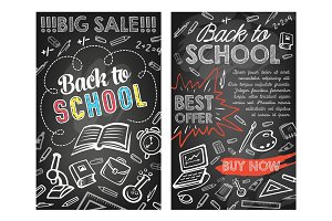 Back to School vector stationery