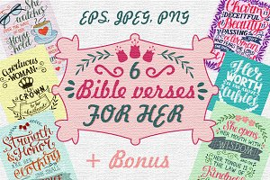 6 Bible verses FOR HER
