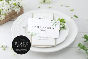Wedding Place Card, Aurora