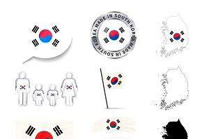 South Korea infographics elements