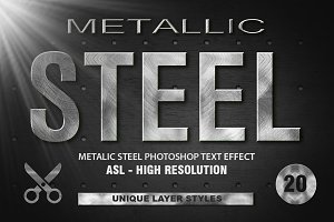 20 Metal Photoshop Layer Styles