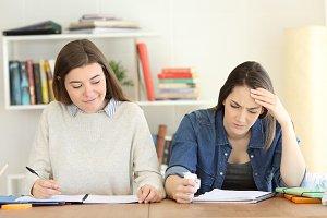 Resentful student happy