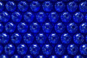 Lot of blue glass bottles