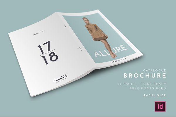 Brochure templates creative market for Online product catalog template