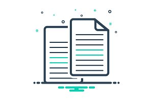 Copy document file icon