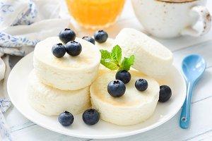 Syrniki, sirniki or cheese pancakes
