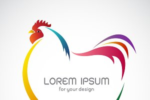 Vector of a hen design. Farm Animal.