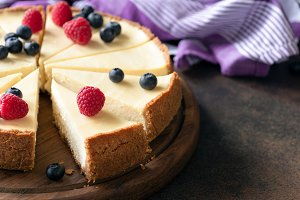Classic plain New York Cheesecake