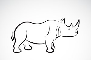Vector of rhinoceros design.