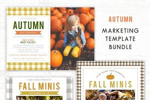 Fall Mini Session Template Bundle