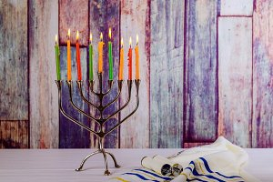 jewish holiday Hanukkah menorah