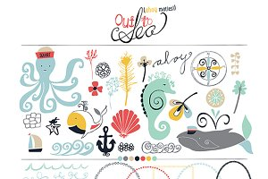 Out To Sea Clip Art