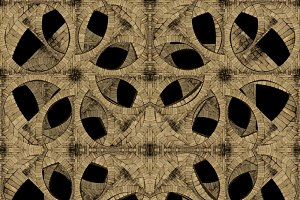 Medieval Ornate Seamless Pattern