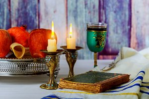 rosh hashanah jewish holiday concept