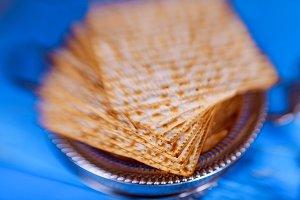 Symbols of Passover Jewish Matzah