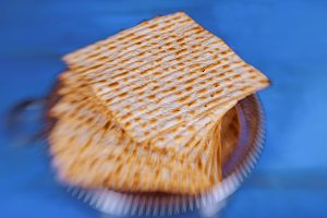 passover background with matzoh