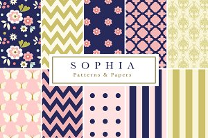 Sophia Seamless Patterns