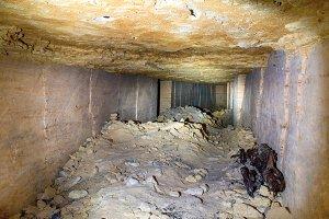Tunnel in stone quarry mine