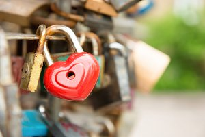 Love red romance lock