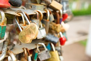 Love golden romance lock