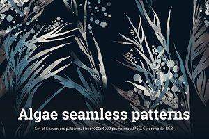 SALE: set algae 5 patterns | JPEG