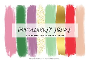 Tropical Brush Strokes Clipart