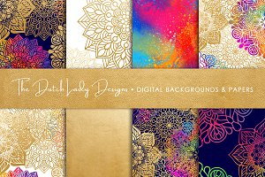 Mandala Pattern Scrapbook Papers