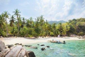 Asian tropical beach paradise in Tha