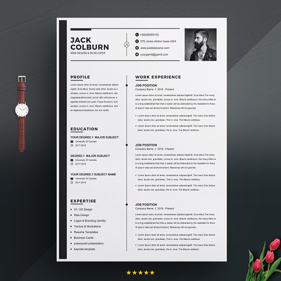 curriculum vitae cv resume template resume templates creative
