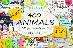 400 ANIMALS in 1 bundle