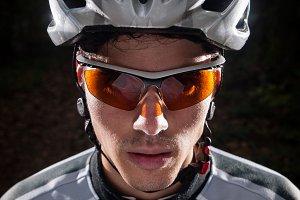 Cyclist portrait