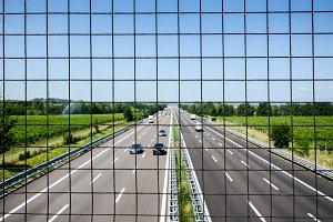Rural highway panorama