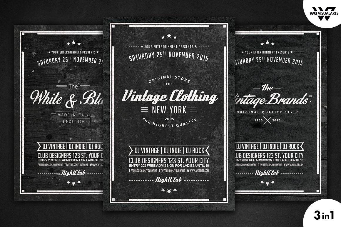 Vintage flyer template free vintage retro flyer template vol5 flyer templates maxwellsz