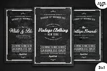 Vintage Retro Flyer Template Vol.5
