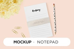 Mockup - Notepad 3 sizes