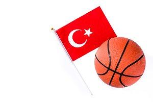 Basketball and Turkish flag