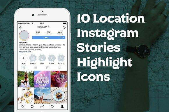 10 Location Instagram Stories Icons in Instagram Templates