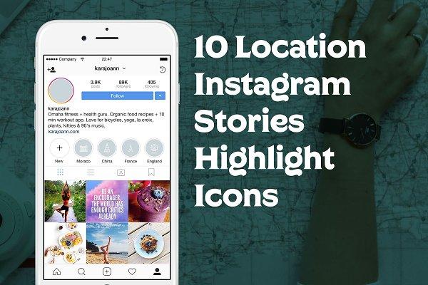 10 Location Instagram Stories Icons