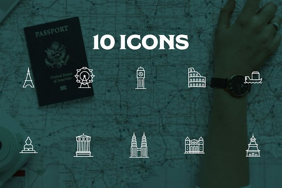 10 Location Instagram Stories Icons in Instagram Templates - product preview 2
