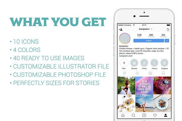 10 Location Instagram Stories Icons in Instagram Templates - product preview 3