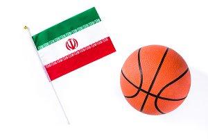 Iranian flag and basketball